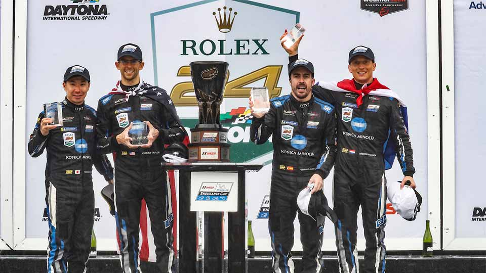 No. 10 Konica Minolta Cadillac DPi-V.R Takes Second  Rolex 24 At Daytona Victory in Three Years