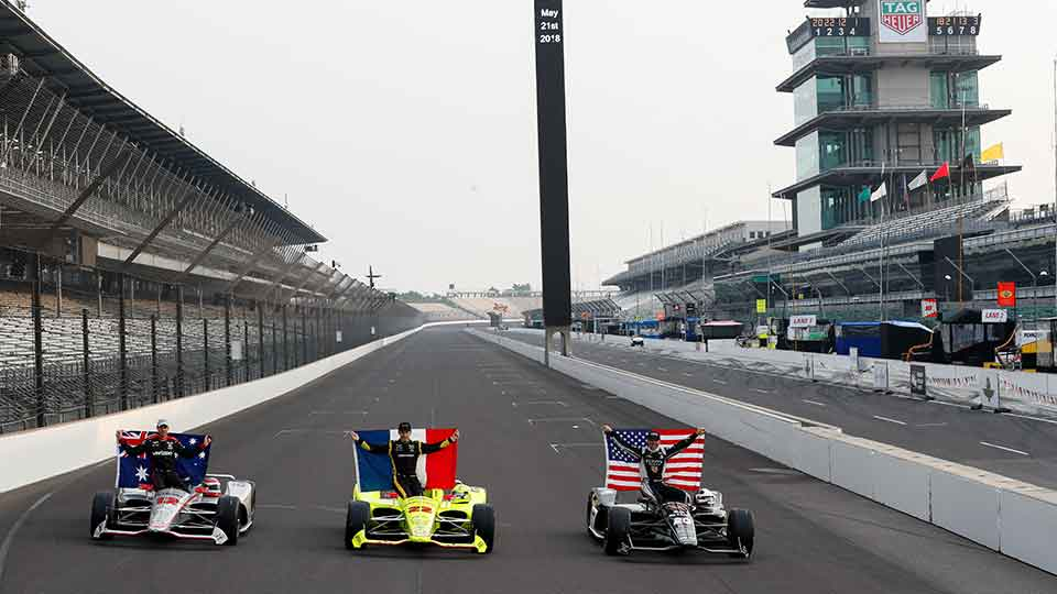 Front Row shot for the 2018 Indy 500