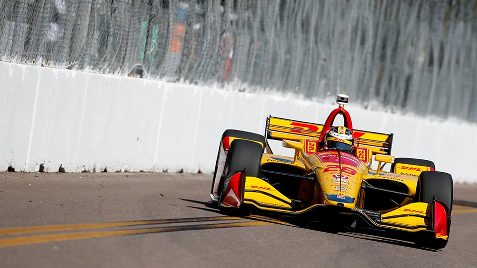 Ryan Hunter-Reay on track at the Firestone Grand Prix of St. Petersburg