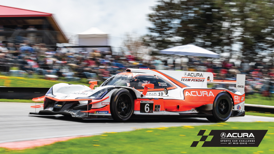 Acura Team Penske DPi on track at the Acura Sports Car Challenge