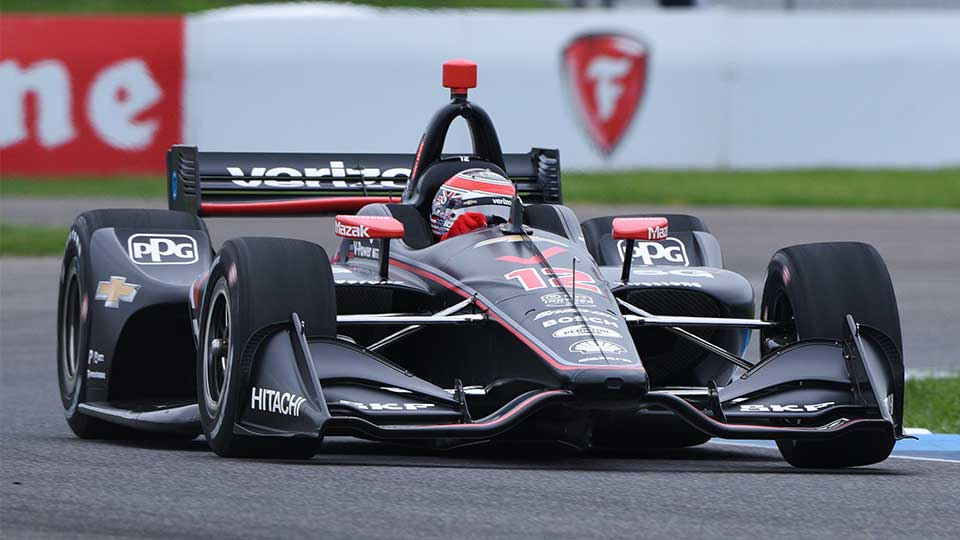 Will Power on track at the Indianapolis Motor Speedway Road Course