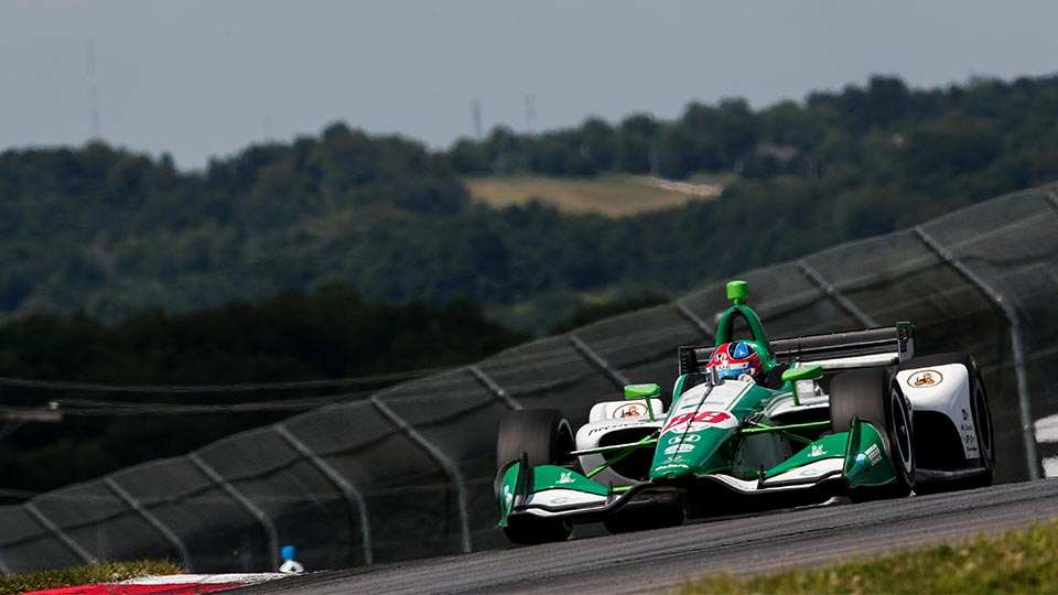 Colton Herta at Mid-Ohio