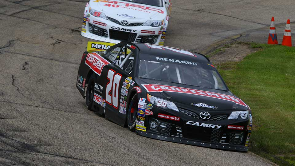 ARCA Menards cars on track