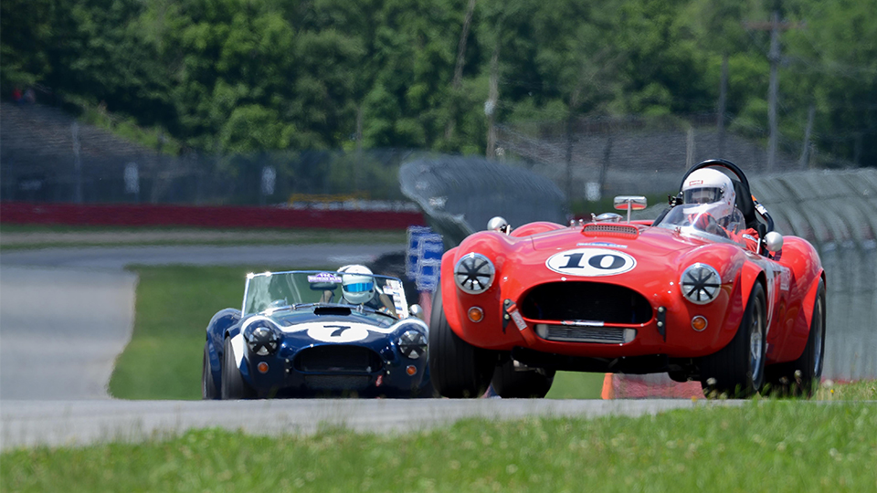 Vintage Cars on track at the Mid-Ohio Sports Car Course