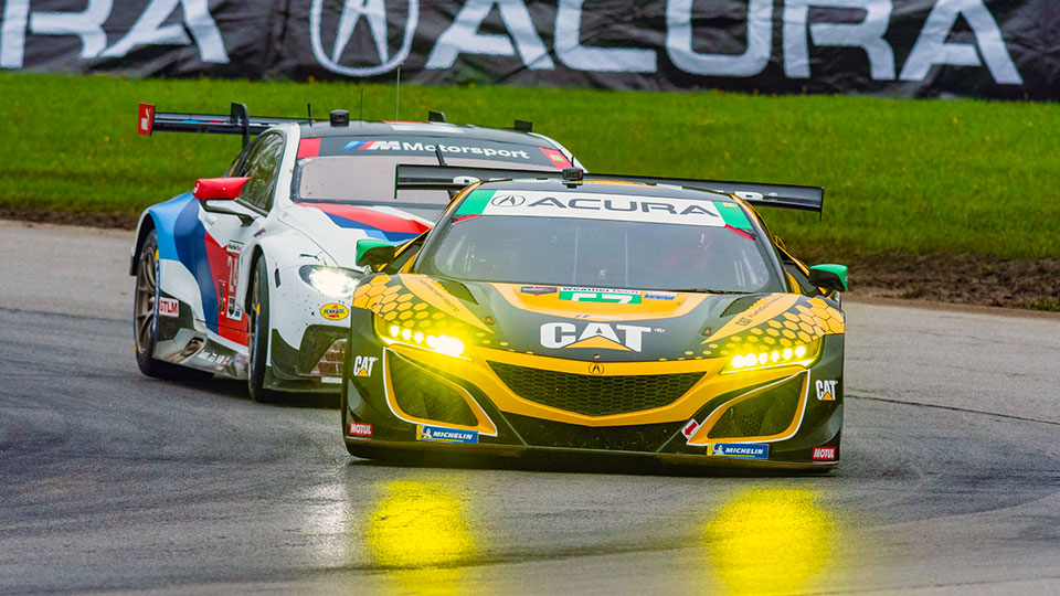 Acura NSX on track at Mid-Ohio Sports Car Course