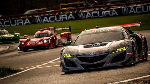 Weathertech SportsCar Championship races through the Mid-Ohio Sports Car Course